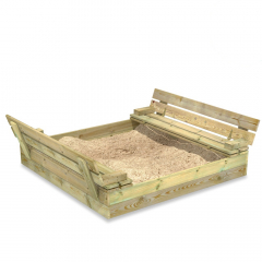 SandSeat Sandpit with lift-up lid