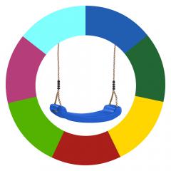 Colour change swing seat